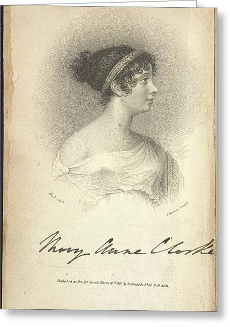 Mary Anne Clarke Greeting Card by British Library