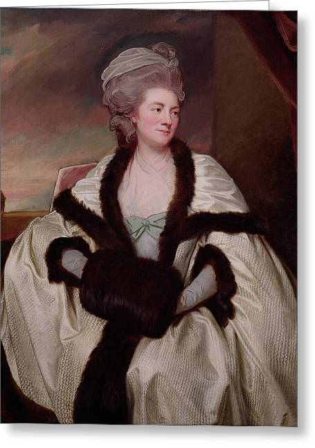Mary Bootle, Mrs. Wilbraham Bootle, 1781 Oil On Canvas Greeting Card