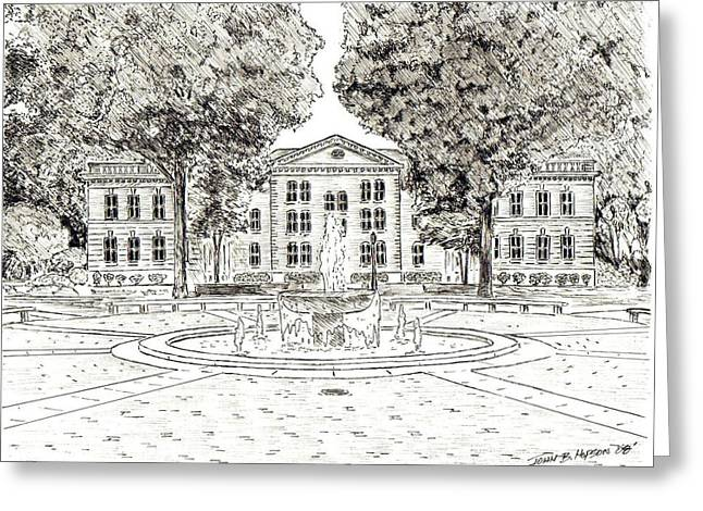 Mary Branch Dorm-randolph Macon College Greeting Card