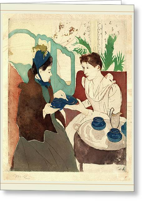 Mary Cassatt, Afternoon Tea Party, American Greeting Card