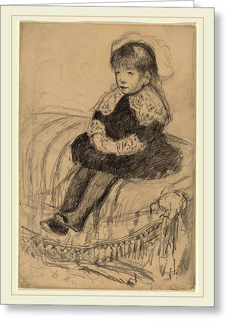 Mary Cassatt, Child Seated On A Sofa, American Greeting Card by Litz Collection