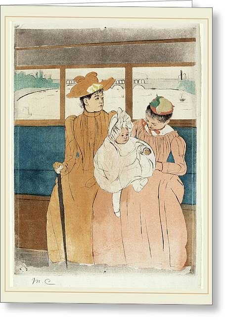 Mary Cassatt, In The Omnibus, American, 1844-1926 Greeting Card by Litz Collection