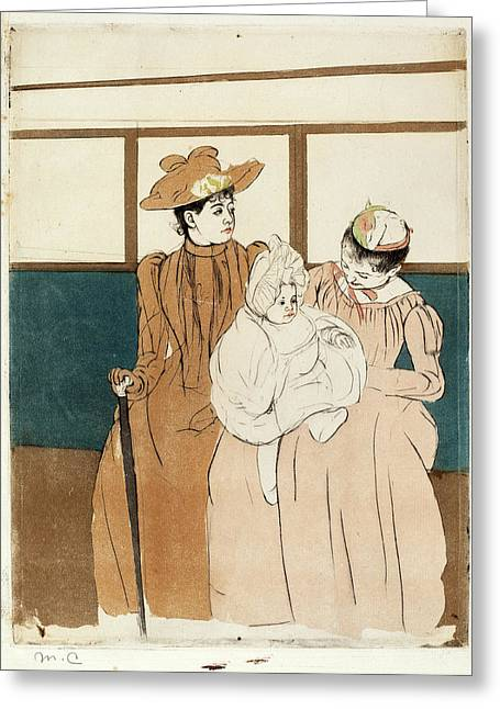 Mary Cassatt, In The Omnibus, American, 1844 - 1926 Greeting Card by Quint Lox