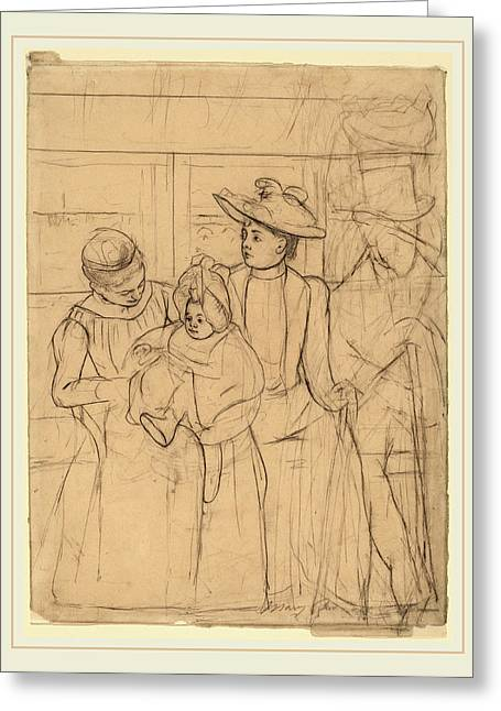 Mary Cassatt, In The Omnibus Recto, American Greeting Card by Litz Collection