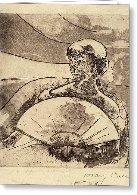 Mary Cassatt, In The Opera Box No. 3, American Greeting Card by Quint Lox