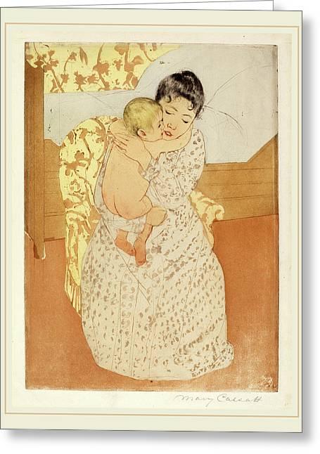 Mary Cassatt, Maternal Caress, American, 1844-1926 Greeting Card by Litz Collection