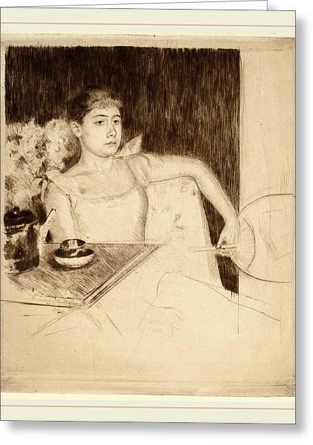 Mary Cassatt, Tea, American, 1844-1926 Greeting Card by Litz Collection