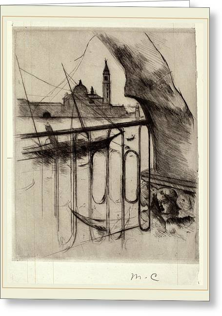 Mary Cassatt, View Of Venice, American, 1844-1926 Greeting Card by Litz Collection