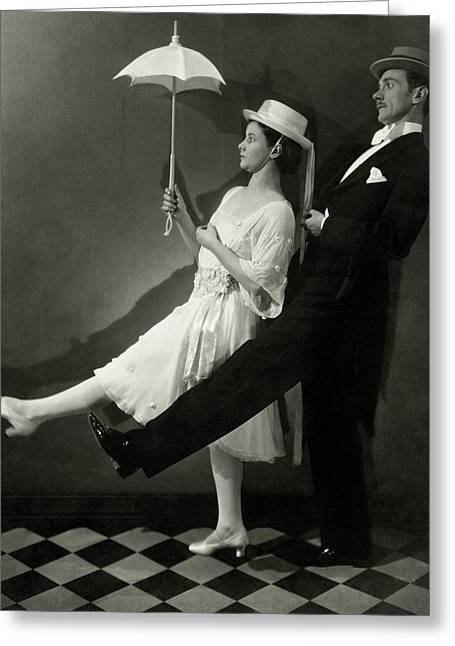Mary Hay And Clifton Webb Dancing Greeting Card by Edward Steichen