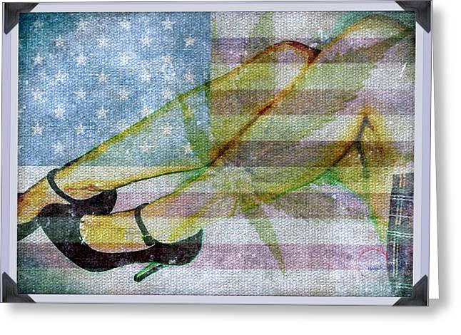 Mary Jane Grows Up Greeting Card by Absinthe Art By Michelle LeAnn Scott