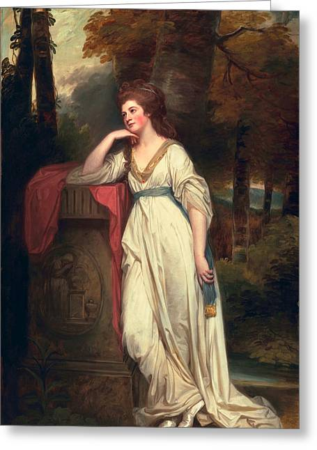 Mary, Lady Beauchamp-proctor, C.1782-88 Greeting Card by George Romney