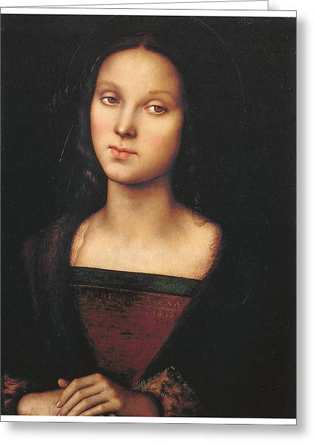 Mary Magdalen Greeting Card by Pietro Perugino