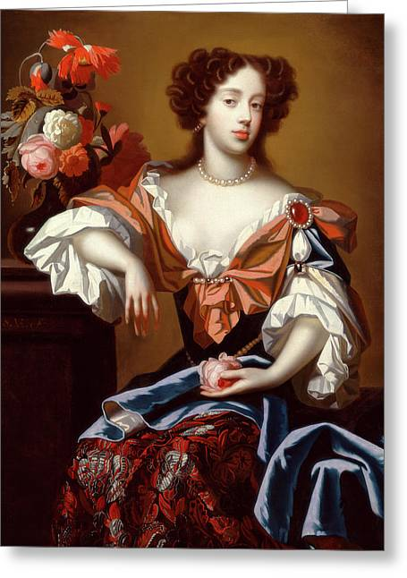 Mary Of Modena Signed, Center Left S Greeting Card