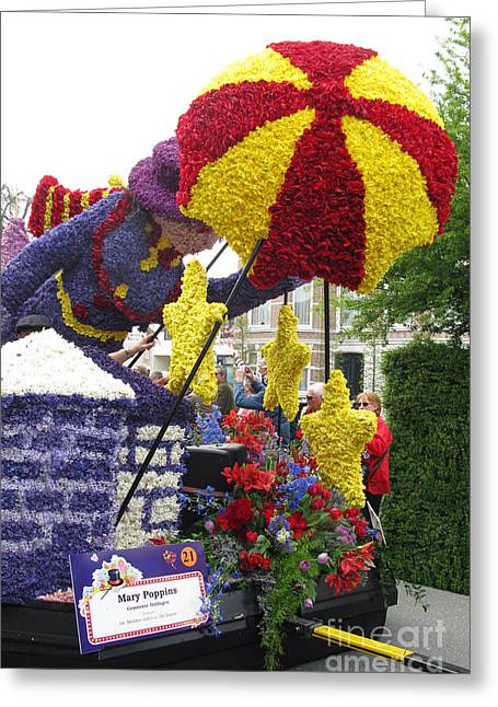 Mary Poppins. Flower Parade. Blumencorso Holland 2011 Greeting Card