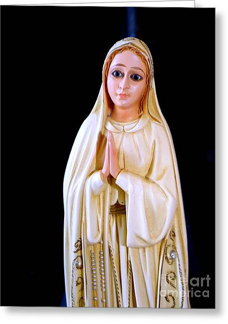 Mary Praying Greeting Card by Ed Weidman