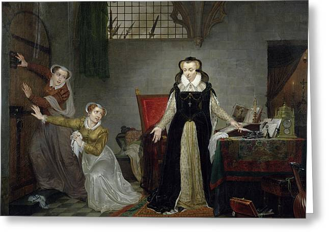 Mary Stuart 1542-87 At The Moment Of Leaving For Her Execution, 8th February 1587 Oil On Canvas Greeting Card