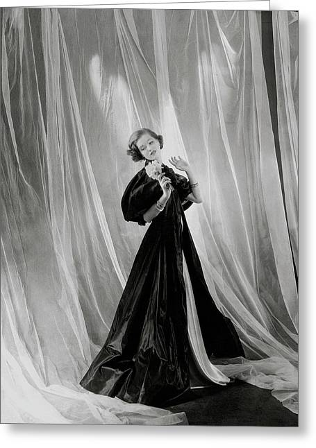 Mary Taylor Wearing A Vionnet Dress Greeting Card by Cecil Beaton