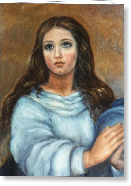 Mary Greeting Card by Terry Sita