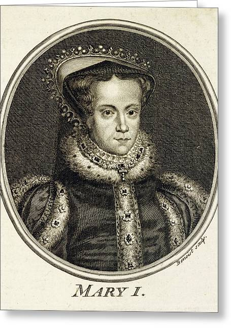 Mary Tudor  Catholic Queen Of England Greeting Card by Mary Evans Picture Library