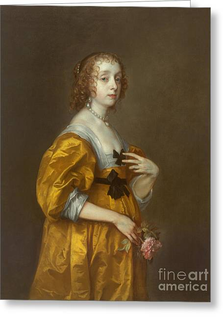 Mary Villiers Lady Herbert Of Shurland Greeting Card
