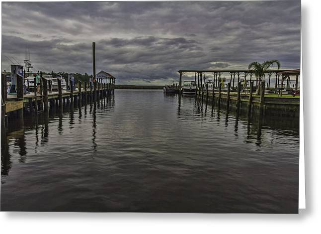 Mary Walker Marina - Stormy Skies Greeting Card by Brian Wright
