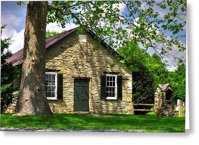 Maryland Country Churches - Fairview Chapel-1a Spring - Established 1847 Near New Market Maryland Greeting Card