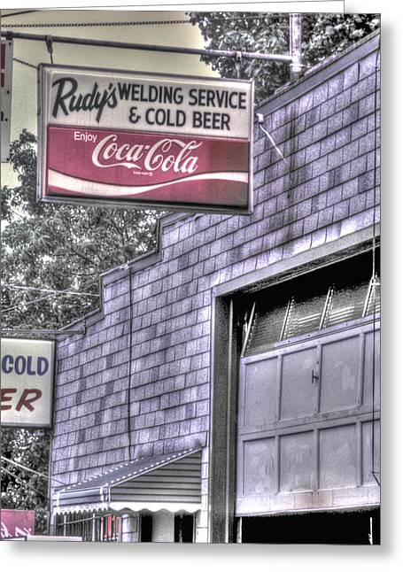 Maryland Country Roads - Some Things Just Go Together No. 1 - Rudys Welding And Cold Beer Greeting Card
