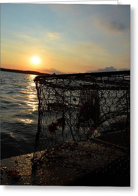 Maryland Crabber's Horizon Greeting Card