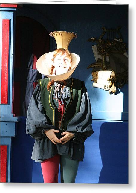 Maryland Renaissance Festival - A Fool Named O - 121210 Greeting Card by DC Photographer