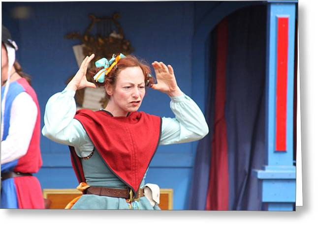 Maryland Renaissance Festival - A Fool Named O - 121217 Greeting Card by DC Photographer