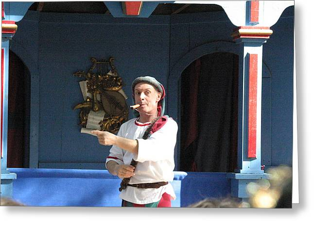 Maryland Renaissance Festival - A Fool Named O - 121227 Greeting Card by DC Photographer