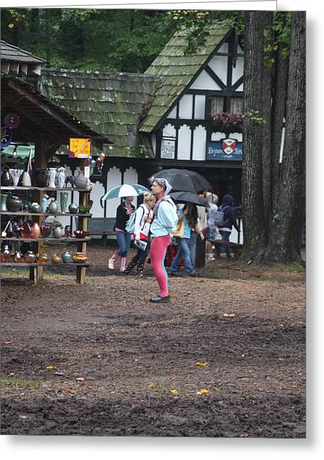 Maryland Renaissance Festival - A Fool Named O - 121231 Greeting Card by DC Photographer
