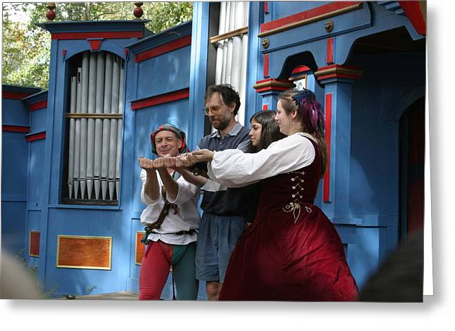Maryland Renaissance Festival - A Fool Named O - 121237 Greeting Card by DC Photographer