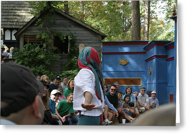 Maryland Renaissance Festival - A Fool Named O - 121239 Greeting Card by DC Photographer