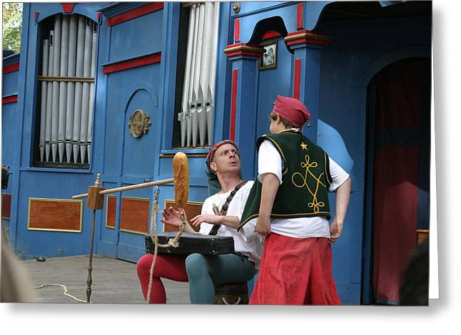 Maryland Renaissance Festival - A Fool Named O - 121249 Greeting Card by DC Photographer