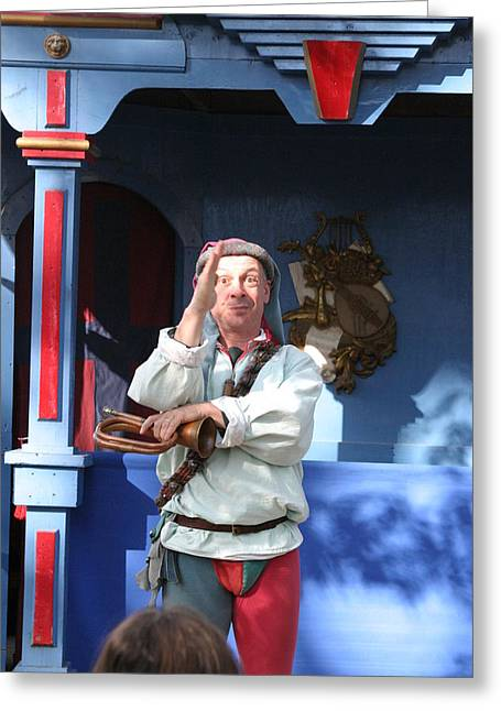 Maryland Renaissance Festival - A Fool Named O - 12125 Greeting Card by DC Photographer