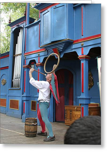 Maryland Renaissance Festival - A Fool Named O - 121258 Greeting Card by DC Photographer