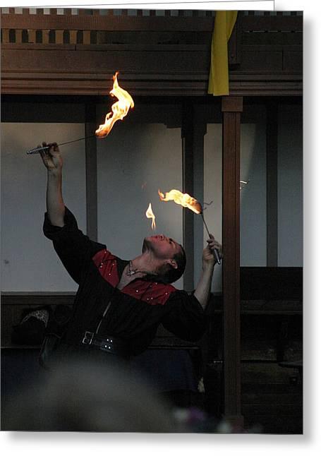 Maryland Renaissance Festival - Johnny Fox Sword Swallower - 1212102 Greeting Card