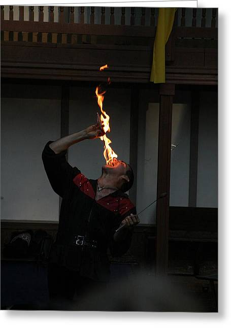 Maryland Renaissance Festival - Johnny Fox Sword Swallower - 1212107 Greeting Card