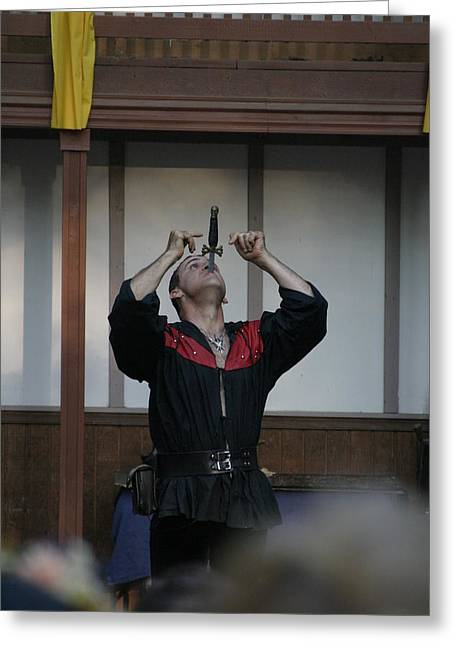 Maryland Renaissance Festival - Johnny Fox Sword Swallower - 1212109 Greeting Card