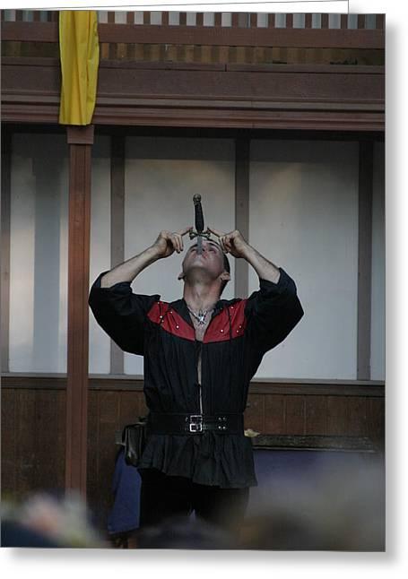 Maryland Renaissance Festival - Johnny Fox Sword Swallower - 1212110 Greeting Card