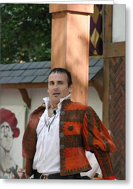 Maryland Renaissance Festival - Johnny Fox Sword Swallower - 121235 Greeting Card by DC Photographer
