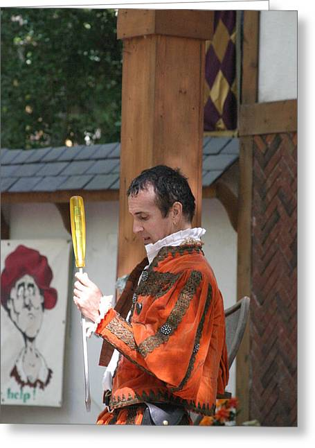 Maryland Renaissance Festival - Johnny Fox Sword Swallower - 121242 Greeting Card by DC Photographer
