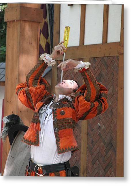 Maryland Renaissance Festival - Johnny Fox Sword Swallower - 121243 Greeting Card