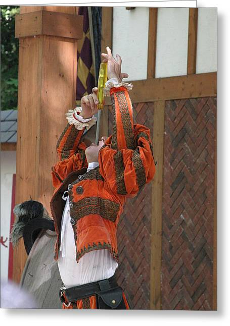 Maryland Renaissance Festival - Johnny Fox Sword Swallower - 121245 Greeting Card by DC Photographer
