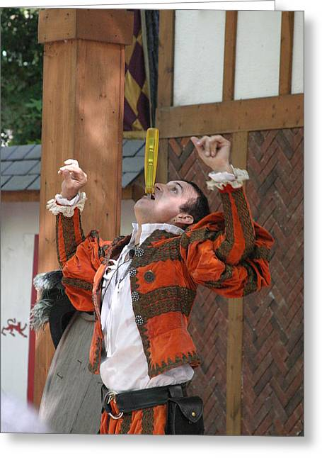 Maryland Renaissance Festival - Johnny Fox Sword Swallower - 121247 Greeting Card by DC Photographer