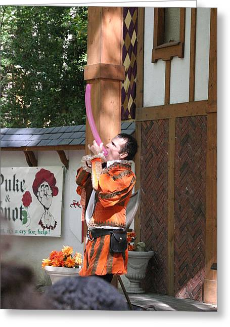 Maryland Renaissance Festival - Johnny Fox Sword Swallower - 121253 Greeting Card by DC Photographer
