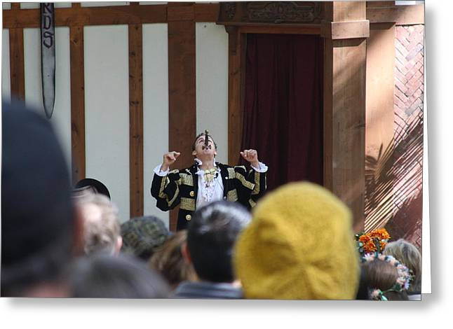 Maryland Renaissance Festival - Johnny Fox Sword Swallower - 121258 Greeting Card by DC Photographer