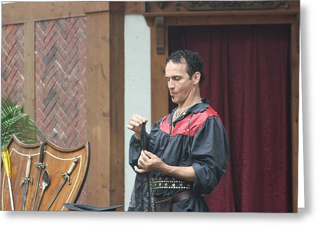 Maryland Renaissance Festival - Johnny Fox Sword Swallower - 121259 Greeting Card by DC Photographer