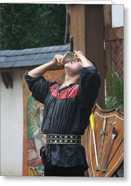 Maryland Renaissance Festival - Johnny Fox Sword Swallower - 121262 Greeting Card